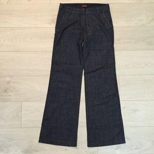 Dex dark blue wide leg jean